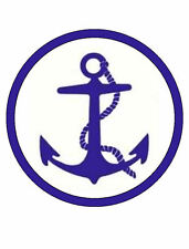"""ANCHOR - 7.5"""" Round ICING Cake Topper -Free P&P-PERSONALISED"""