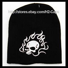 Fire flaming skull head Beanie Hat Ski Skate Snow Board Unique design