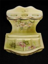 Hand Painted Nippon (Repro) WILDFLOWER Toothbrush & Soap Holder, Bathroom Vanity