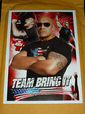 WWE THE ROCK TEAM BRING IT RARE PHOTO COLLECTOR NEUF