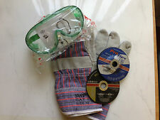 Safety Goggles, Gloves & 100mm Discs INOX