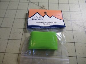 """SPIRIT RIVER ROUND RUBBER LEGS 24 """" X 1.25"""" LIME  LEGR-133 Fly Tying Material"""