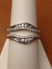 1.08 Ct 14K White Gold Over Enhancer Engagement Wedding Wrap Ring Size 7