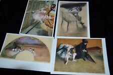 Vtg 1992 Museum Store Edgar Degas BALLET Dancers 12 Note Cards 4 Designs x 3 ea.