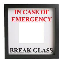IN CASE OF EMERGENCY BREAK GLASS  - Vinyl decal sticker