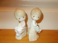 "Vintage 1993 Precious Moments ""Love One Another"" Salt and Pepper Shaker Set"