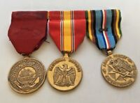 Lot 3 US Military Service Medals Good Conduct National Defense Expeditionary