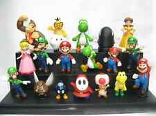 New 18pcs Set Super Mario Bro Bowser Princess Yoshi Luigi Toad Goomba Figure Toy