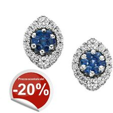 Orecchini Donna Comete Gioielli Orb611 Diamanti e zaffiri - Confezione