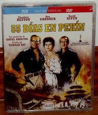 55 DIAS EN PEKIN EDICION ESPECIAL BLU-RAY+DVD NUEVO PRECINTADO (SIN ABRIR) R2