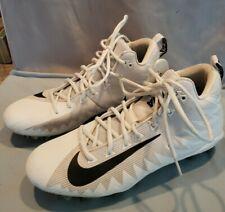 Nike Alpha Menace - White Cleats (Men's 11.5)
