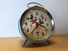 Vintage Alarm clock - POLARIS - Orologio sveglia A Corda - Mickey & Donald