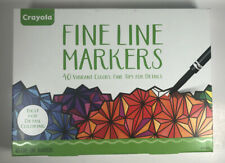 Crayola Markers Fine Line 40 Assorted Colors Arts Crafts Adult coloring Supplies