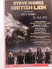 STEVE HARRIS (Iron Maiden) British Lion 2013 Tour mini Press ADVERT 5x3 inches