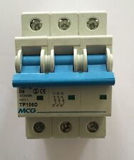 MCG 6 AMP TYPE D 6 kA TRIPLE POLE MCB CIRCUIT BREAKER JVM1-63 TP106D