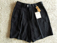 Tommy Bahama Black Silk Ladies Golf Shorts  'Tee Time'  NWT  10