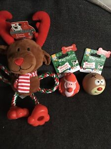 3 Toys for Medium Dogs all with a squeak in, new with tags (2sets available)