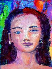 Original OIL Painting Arthur Robins NYC Art SPIRITUAL LADY holy woman of God