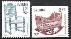 Schweden Nr.1115/16 ** NORDEN 1980, postfrisch