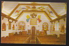 LAWTON OKLAHOMA OK Holy City Chapel Interior Paintings Vintage Postcard PC