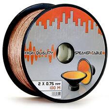 100 Meter Lautsprecher 2x0 75 Boxen Audio Radio Kabel Lautsprecherkabel