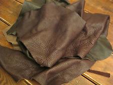Soft brown Leather scrap/ Retailles de cuir brun souple