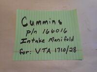 Cummins Intake Manifold 166016 VTA 1710 28 28L V12