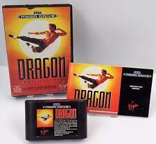 Sega Mega Drive MD-Dragon the Bruce Lee Story + instrucciones + embalaje original