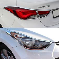 Chrome Head lamp Cover Rear Tail Light Molding for HYUNDAI 2011-2016 Elantra MD