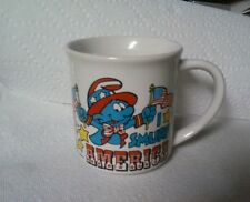 I smurf america coffee tea mug  cup 1982