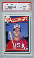 Topps 1984 Mark McGwire  #401 PSA 8.0 (8)  NM-MT RC Card USA Baseball 4475 z4