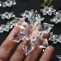 20pcs Acrylic Christmas Snowflakes Ornaments Party Tree Hanging Decorations Xmas