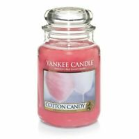 ☆☆COTTON CANDY☆☆YANKE CANDLE LARGE JAR 22 OZ☆☆PINK☆FREE EXPEDITED SHIPPING