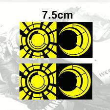 """2x Valentino Rossi Sticker Sol Y Luna Vinilo calcomanía (3 """") 2tone 2013 Amarillo"""