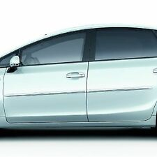 Genuine Toyota Prius+ Side Mouldings Black And Chrome 08266-47820-C0