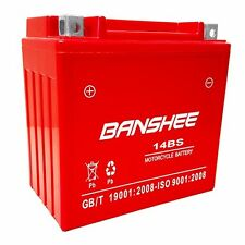 YTX14-BS for Suzuki Honda Buell BMW Motorcycle Battery and More, 4 Year Warranty