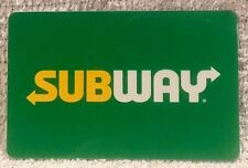 Subway Restaurant Sandwiches Bright Green Background 2017 Gift Card Collectible