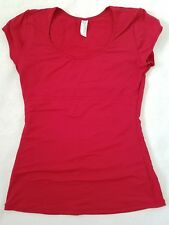 Flexees Maidenform Sz Large Shaper Shirt Red Tummy Back Control Cap Sleeve Top