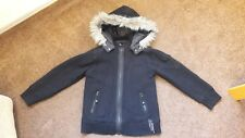 Girls Black Lined Next Coat 7-8 Years