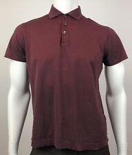Hugo Boss Men's Red Black Slim Fit Polo Short Sleeve Golf Shirt Size Medium