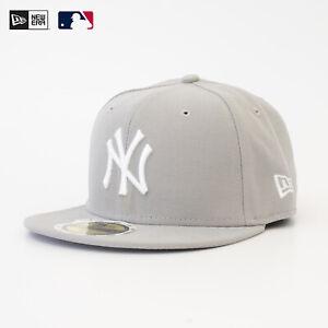 New Era MLB 59Fifty Baseball Cap NY New York Yankees Fitted Mütze Grau Sale