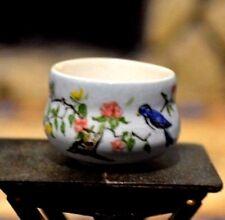 Dollhouse Miniature Artist Painted Porcelain Bowl Deborah Mknight IGMA 1:12