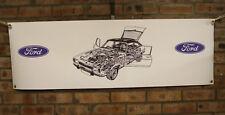 Ford Capri mk2 gran tienda de trabajo de PVC Banner garaje mostrar Banner Oficina