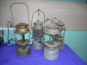 VINTAGE KEROSENE LAMPS X 4