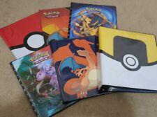 More details for ultra pro pokemon card folder a4 9 pocket portfolio album binder bundle + pages