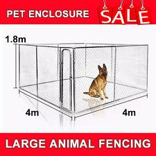 LARGE RECTANGULAR KENNEL RUN / DOG RUN / DOG CAGE / PET ENCLOSURE / PEN 4x4x1.8