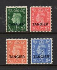 MOROCCO AGENCIES TANGIER 1937 KING GEORGE VI BRITISH CURRENCY MINT STAMPS