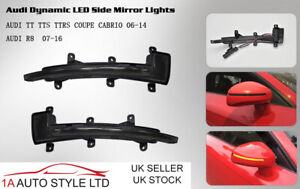 Sweeping flowing LED side wing mirror indicator light for Audi TT 8J dynamic