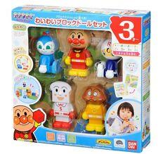 Block Doll set Anpanman World Block Series Toy New Japan