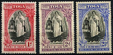 Tonga 1938 SG#71-3 Queen Salotes Accession MH Set #D25537
